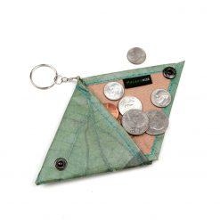 Turquoise Vegan Keychain Coin Purse Holder