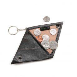 Black Vegan Keychain Coin Purse Holder