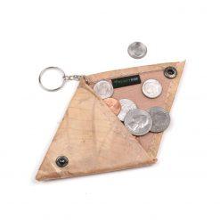 Natural Vegan Keychain Coin Purse Holder