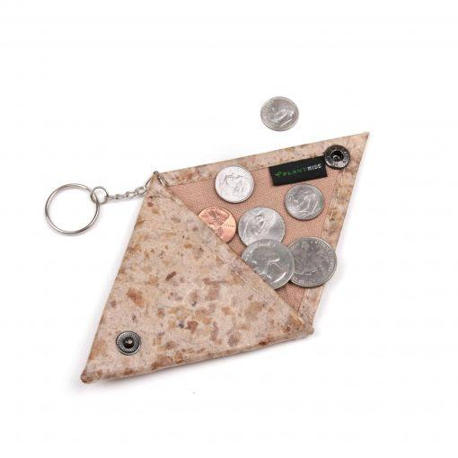 Coffee Vegan Keychain Coin Purse Holder