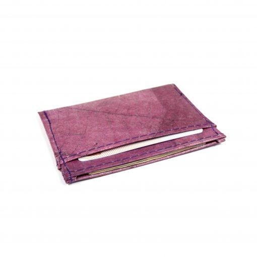 Purple Vegan Minimalist Wallet