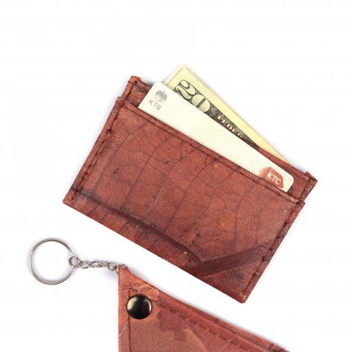 Brown Vegan Minimalist Wallet