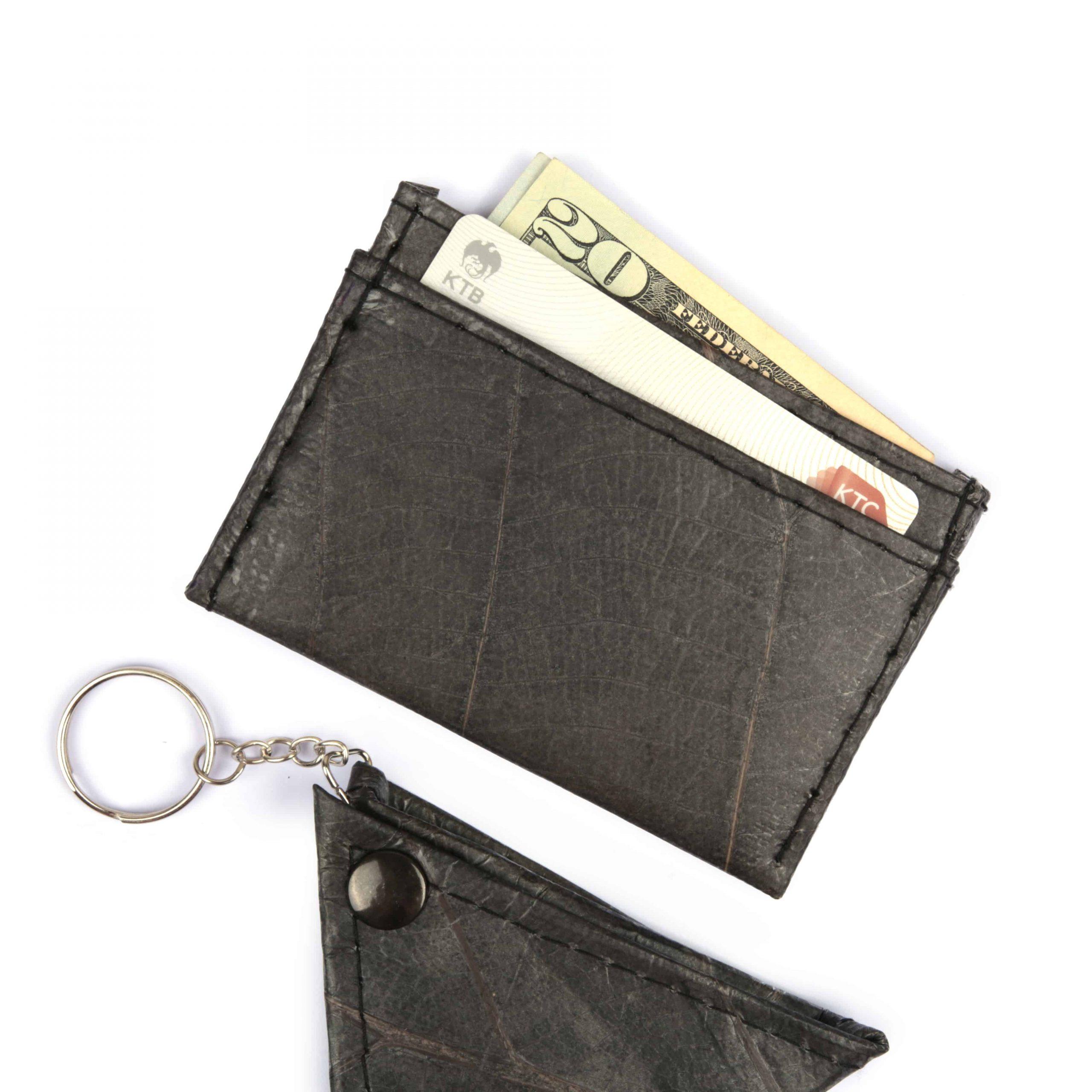 Black Vegan Minimalist Wallet