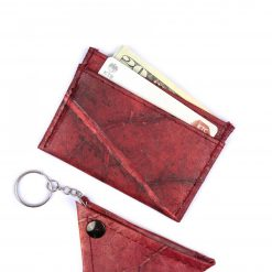 Red Vegan Minimalist Wallet