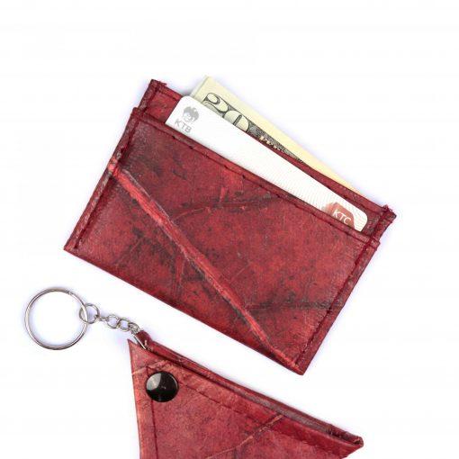 Red Vegan Minimalist Wallet