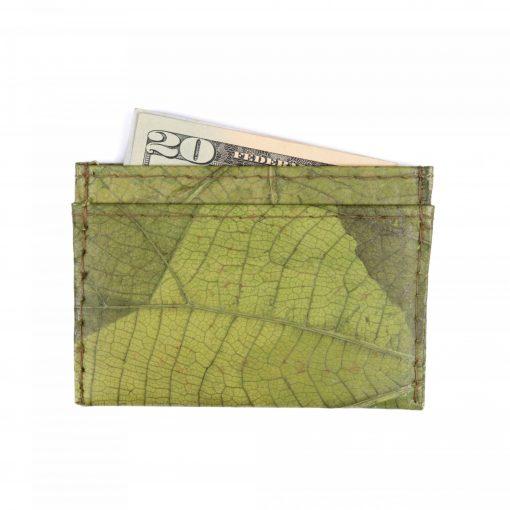 Green Vegan Minimalist Wallet