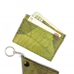 Green Vegan Minimalist Wallet