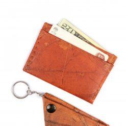 Orange Vegan Minimalist Wallet