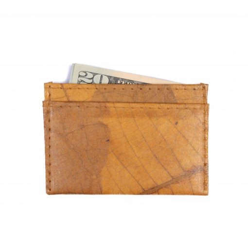 Yellow Minimalist Vegan Leather Faux Leather Wallet