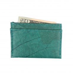 Turquoise Minimalist Vegan Leather Wallet