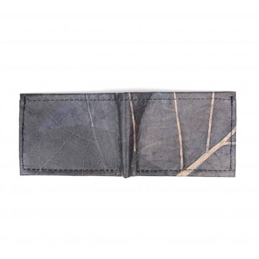 Blue Vegan Leather Bifold Wallet Faux Leather Plant Based Leather Wallet Leather Alternative