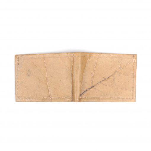 Natural Vegan Leather Bifold Wallet Faux Leather Plant Based Leather Wallet Leather Alternative