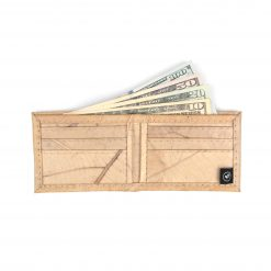 Natural Vegan Leather Bifold Wallet Faux Leather Plant Based Leather Wallet Leather Alternative