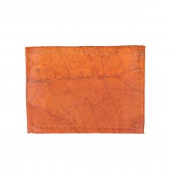 Orange Vegan Leather Bifold Wallet Faux Leather Plant Based Leather Wallet Leather Alternative