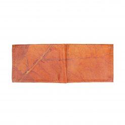 Orange Vegan Leather Bifold Wallet Faux Leather Plant Based Leather Wallet Leather Alternative