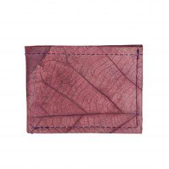 Purple Vegan Leather Bifold Wallet Faux Leather Plant Based Leather Wallet Leather Alternative