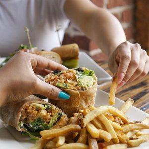 vegan restaurants la serving vegan wraps and fries
