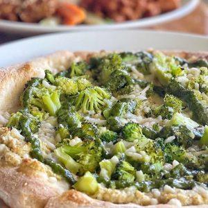 Vegan Broccoli Flatbread Pizza LA Los Angeles vegan restaurants la