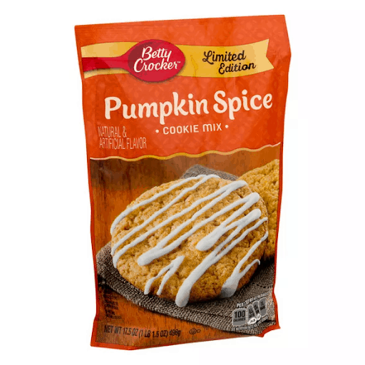 betty crocker pumpkin spice instant cookie mix vegan pumpkin spice products