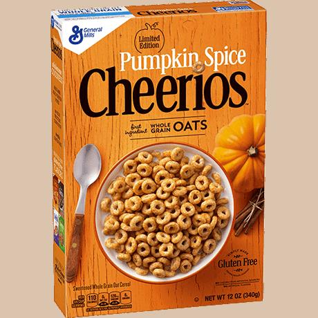 pumpkin spice seasonal cheerios