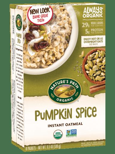 pumpkin spice vegan instant oatmeal vegan pumpkin spice products