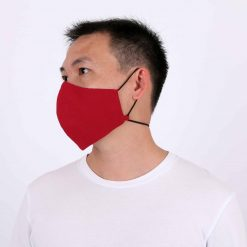 Solid Red Adjustable Face Mask