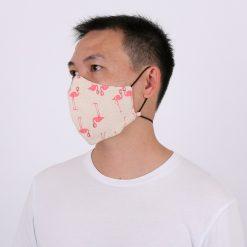 Florida Flamingo Adjustable Face Mask