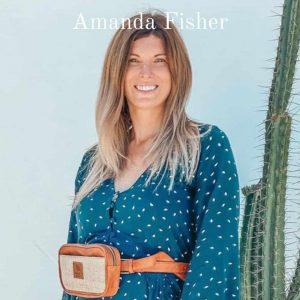 Vegan model and vegan fashionista Amanda Fisher
