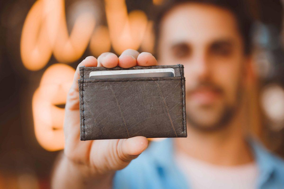 Faux Leather Plant Hide Minimalist Wallet Card Holder