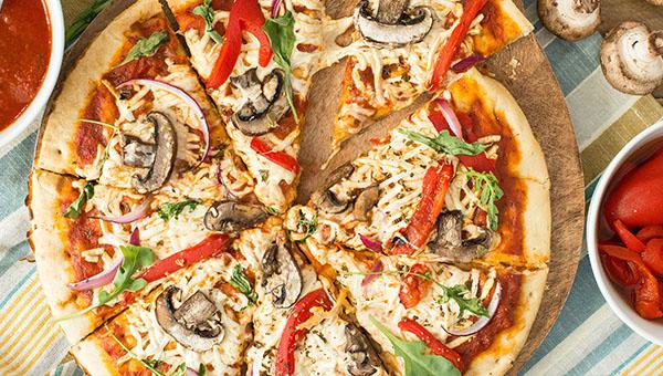 Homemade Vegan Cheese Pizza