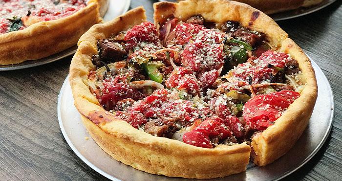 Vegan Deep Dish Pizza