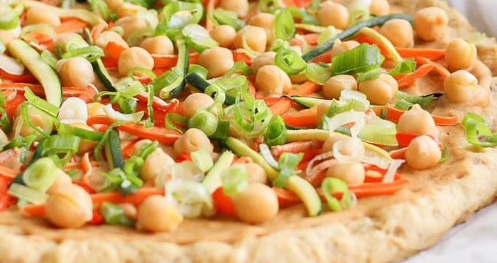 Vegan Thai Chickpea and Veggie Pizza-1